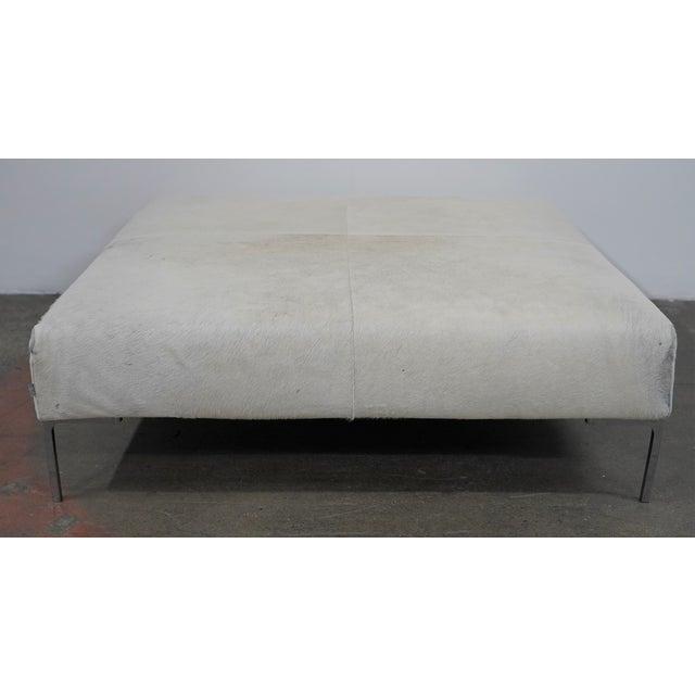 """B&B Italia Charles Large Pony Ottoman. At 48"""" square, this is a wonderful example and has been very well looked after."""