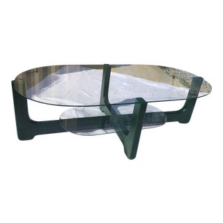 Italian Faux Malachite Coffee Table For Sale