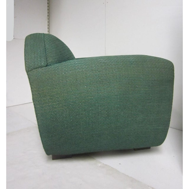 Green 1930s French Art Deco Upholstered Club Chairs-a Pair For Sale - Image 8 of 13