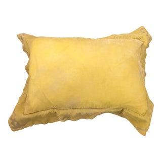 Custom Made Velvet Yellow Lumbar Pillow