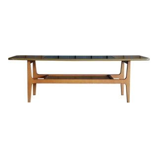 Danish Modern Teak & Glass Coffee Table