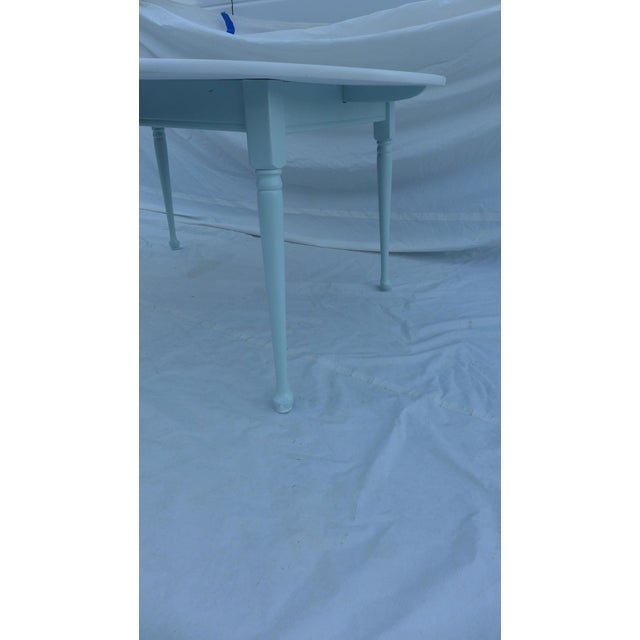 Heywood-Wakefield Two-Tone Blue & White Table For Sale In New York - Image 6 of 7