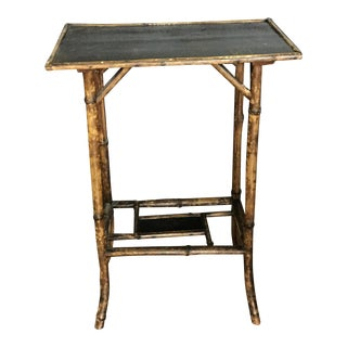 Vintage Chinoiserie Bamboo Accent Table For Sale
