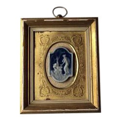French-Limoges - Porcelain -Pate-Sur-Pate- Framed Fine Art Medallion Picture