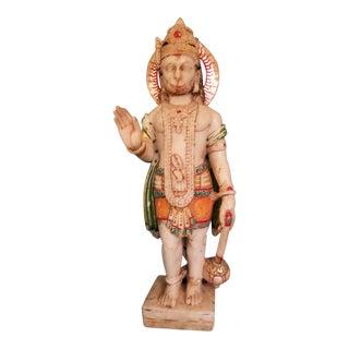 19Th Century Marble Hindu Hanuman Deity Statue