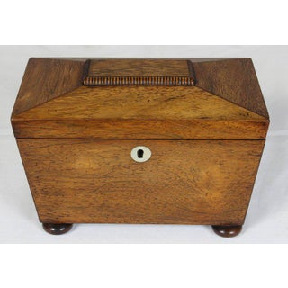 Regency Mahogany Sarcophagus Form Tea Caddie Preview