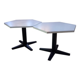 1960s Mid Century Modern Octagonal Accent Tables - a Pair For Sale