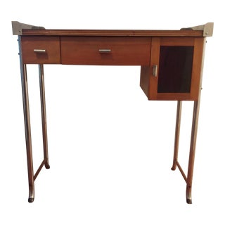 1940's Vintage Art Deco Style Paidar Barber Work Station Table For Sale