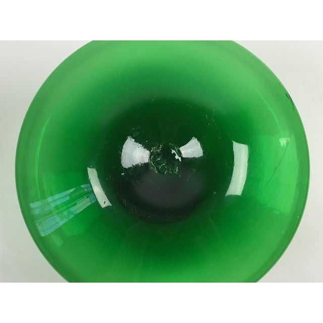 Mid-Century Modern Blenko Green Glass Decanter - Image 7 of 7