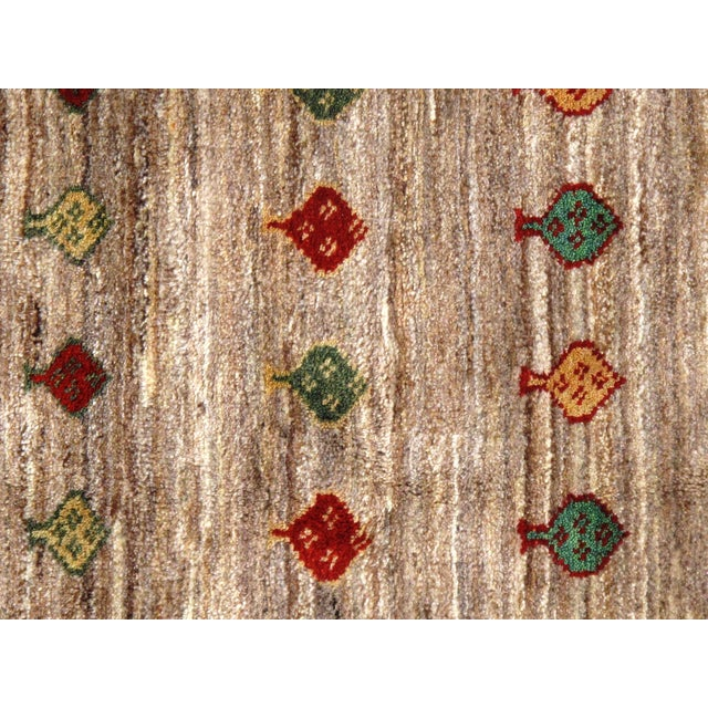 """Boho Chic Traditional Pasargad N Y Persian Gabbeh Rug - 3′4″ × 4′8"""" For Sale - Image 3 of 5"""