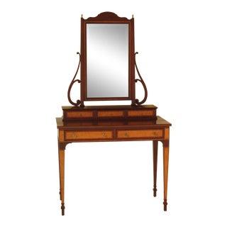 2000's Henkel Harris Inlaid Mahogany Vanity Table
