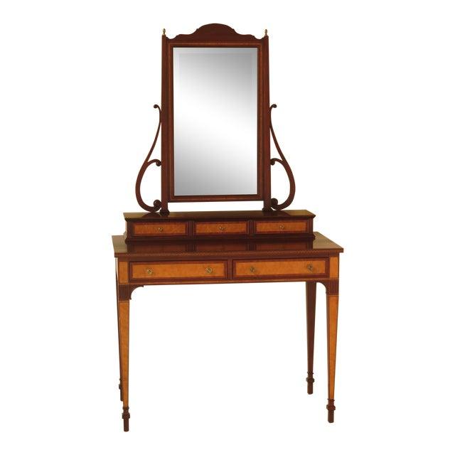 2000 S Henkel Harris Inlaid Mahogany Vanity Table Chairish