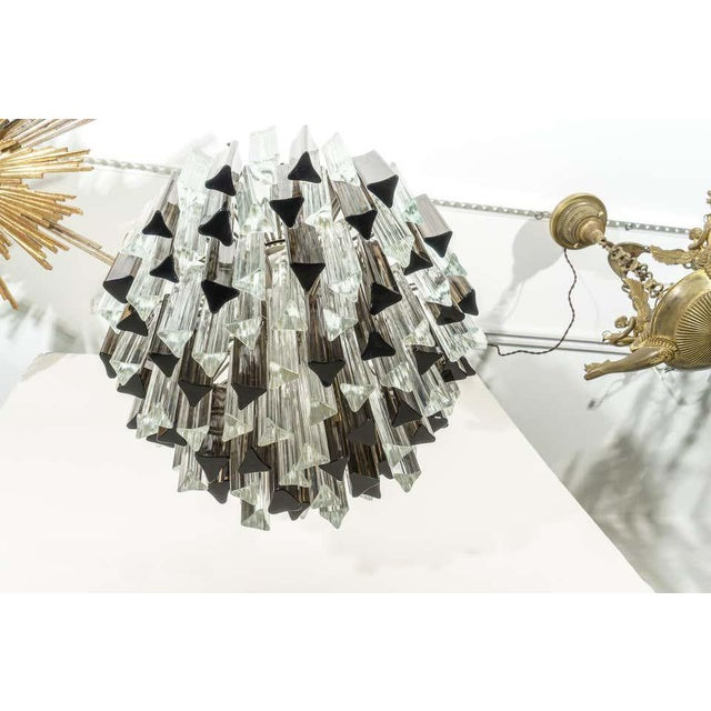 Camer Murano Glass Chandelier Smokey Topaz by Venini for Camer Glass For Sale - Image 4 of 10