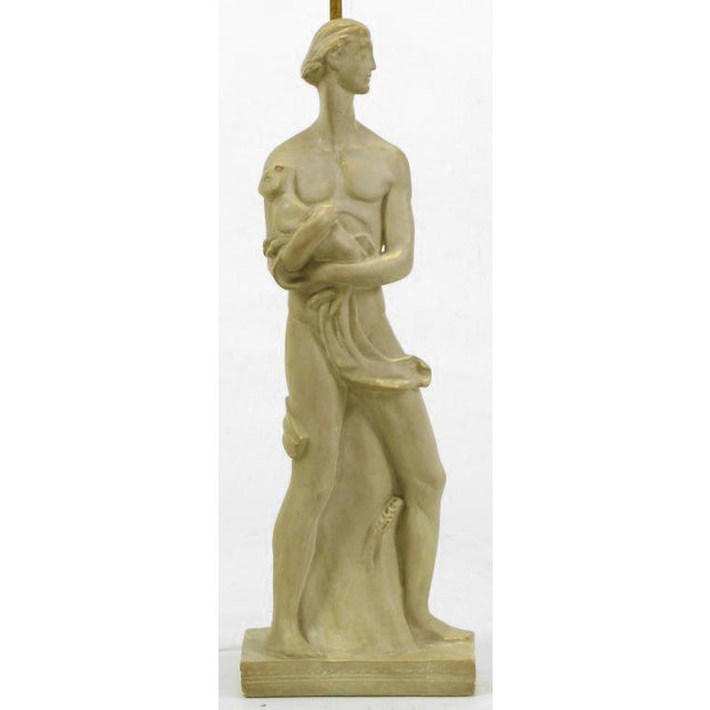 Chapman Manufacturing Company Egyptian Figure Table Lamp by Chapman For Sale - Image 4 of 11