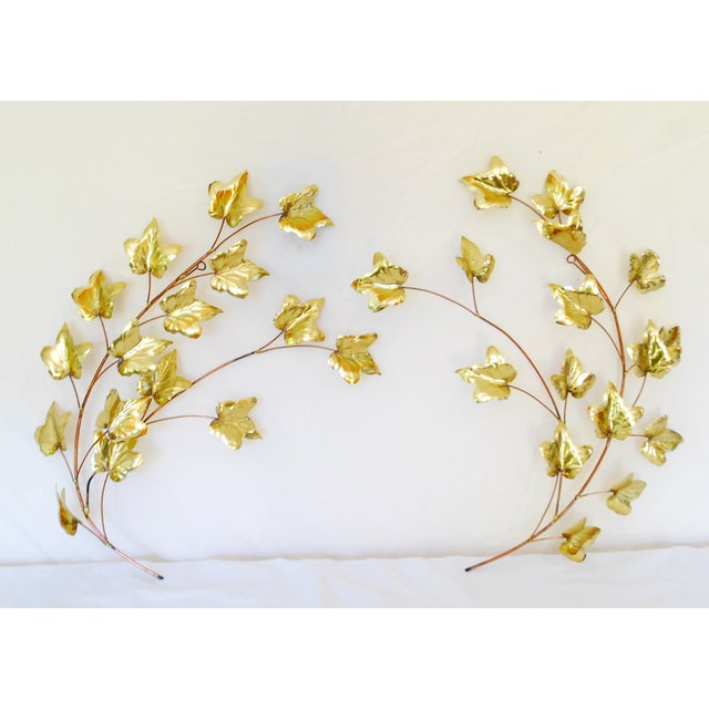 Mid-Century Copper & Gold Tone Wall Hanging - Image 2 of 4