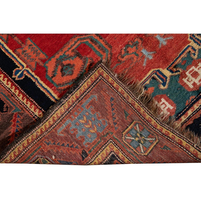 Mid-20th Century Vintage Wool Rug 4' 5'' X 8' 8''. For Sale - Image 4 of 13