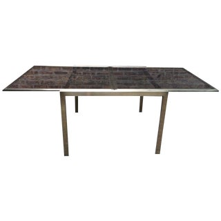 Milo Baughman Dia Antique Brass Extension Table
