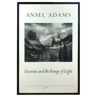 """Ansel Adams """"Yosemite and the Range of Light"""" Poster Signed For Sale"""