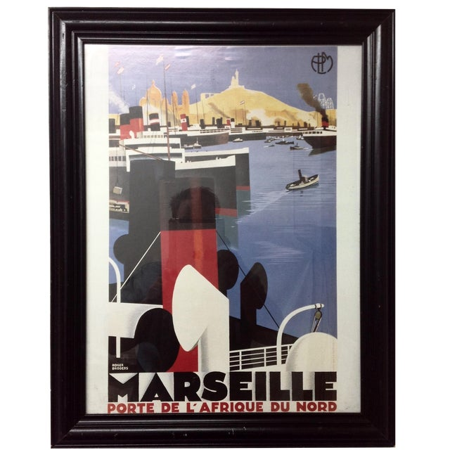 Marseille Porte de l'Afrique du Nord Framed Poster For Sale