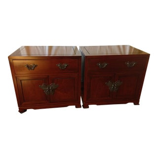 Solid Rosewood End Tables/Nightstands - a Pair For Sale