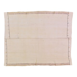 "Vintage Turkish Anatolian Hand Knotted Organic Cotton Fine Weave Kilim,5'8""x6'10"" For Sale"