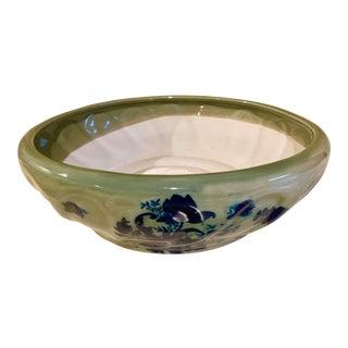 Antique Japanese Hand-Painted Planter For Sale