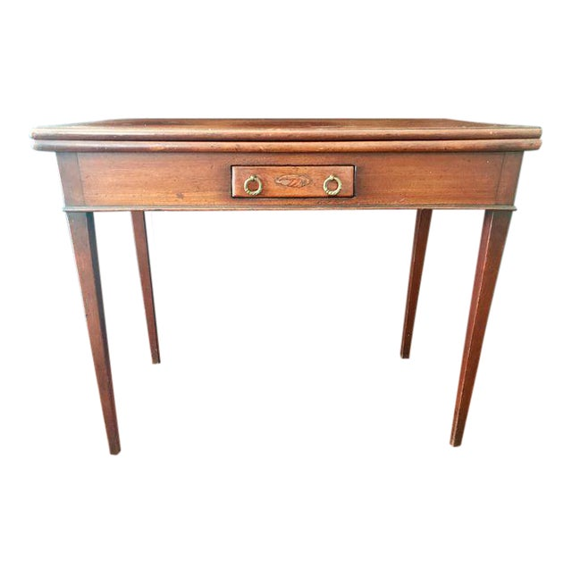 Table - Desk - Antique English Desk - Card Table - Image 1 of 8 - Table - Desk - Antique English Desk - Card Table Chairish