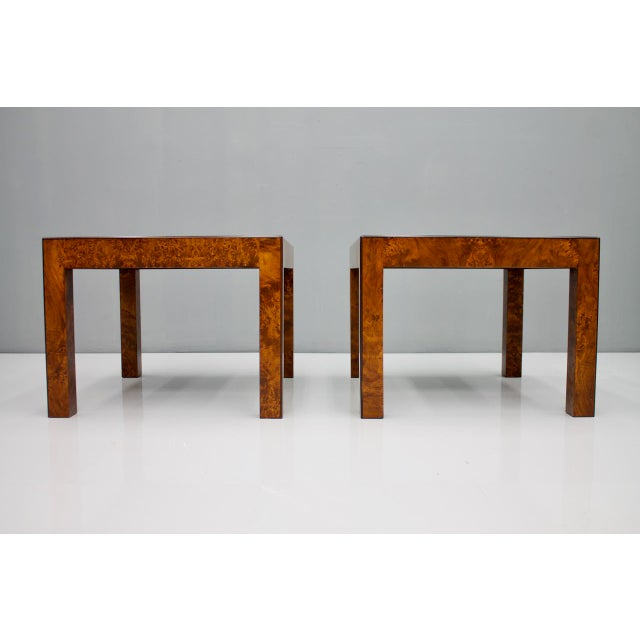 1970s Pair of Burl Wood Side or End Tables 1970s For Sale - Image 5 of 10