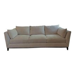 Modern Cream Upholstered Sofa