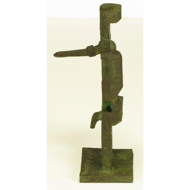 Pair Bronze Male & Female Abstract Sculptures, Signed. - Image 6 of 10