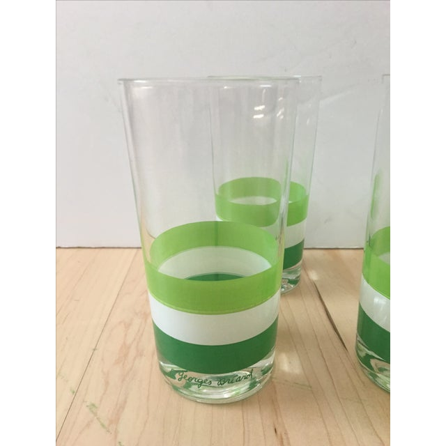Georges Briard Green & White Tumblers - Set of 4 - Image 3 of 5