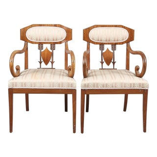 Pair of Swedish Karl Johan 'Biedermeier' Armchairs For Sale