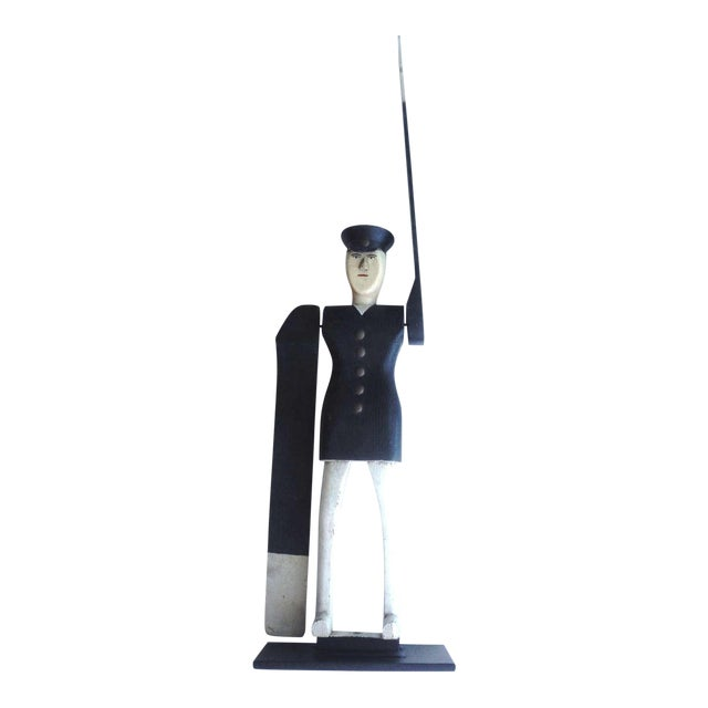 All Original Early Hand-Carved Policeman Whirligig - Image 1 of 9