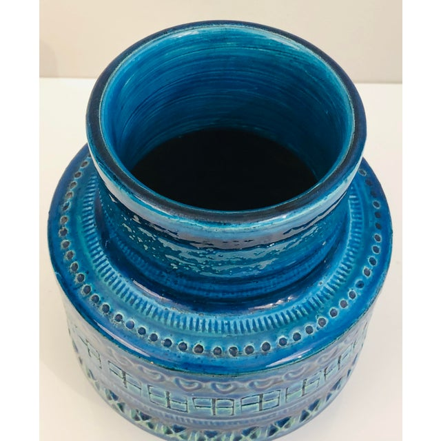 Bitossi Aldo Londi for Bittosi Rimini Blue Vase For Sale - Image 4 of 7
