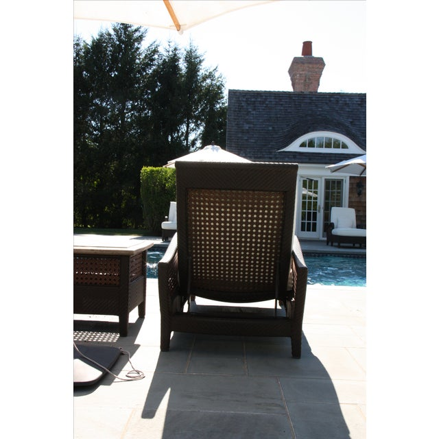 Century Denpasar Articulating Chaises - Pair With Side Table - Image 5 of 5