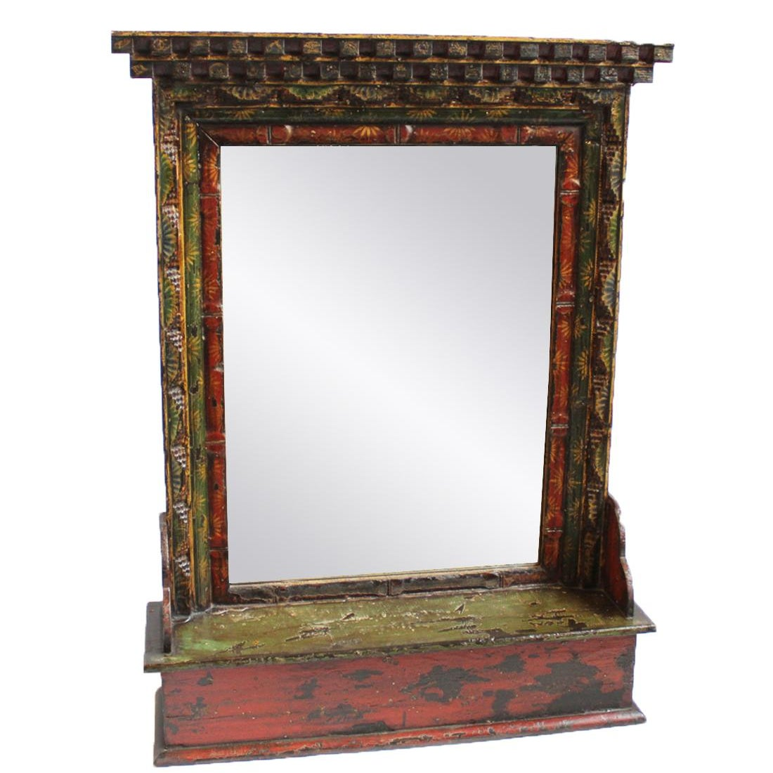 Tibetan Painted Mirror Frame Chairish