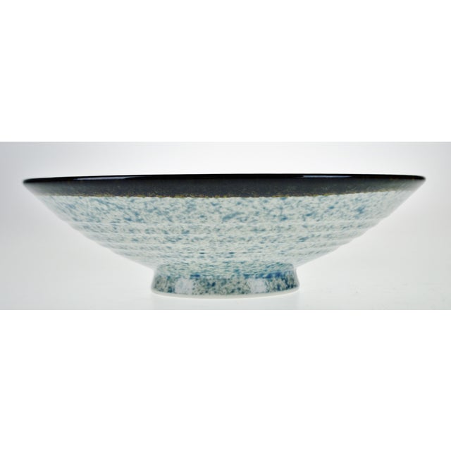Vintage Japanese Blue Wave Pattern Ceramic Bowl - Image 2 of 11