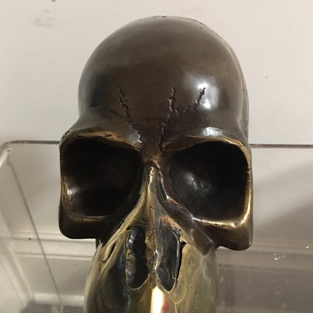 1974 Bronze Modernist Skull Sculpture by Stein For Sale - Image 4 of 7