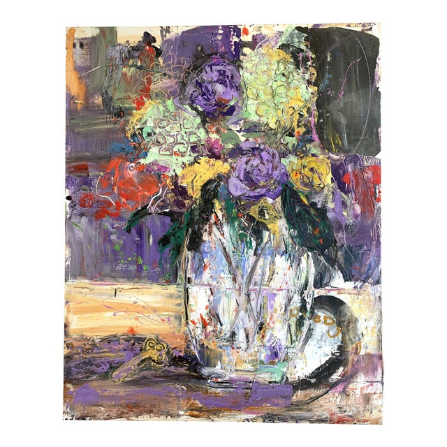"""""""Purple Perfection"""" a Modern Floral by Jj Justice For Sale"""