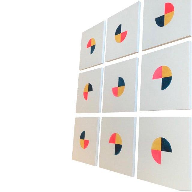 "Boho Chic Boho Chic Natasha Mistry ""Lava to Sky"" Acrylic Paintings - Set of 9 For Sale - Image 3 of 5"
