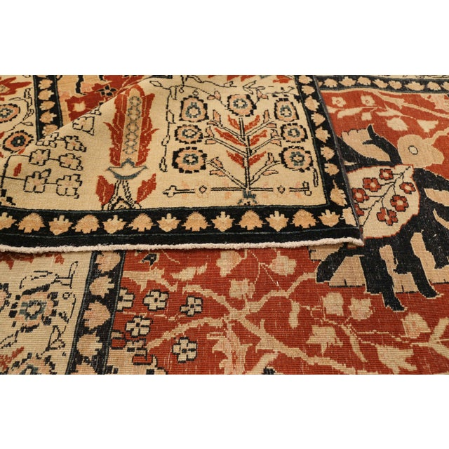 Islamic Contemporary Turkish Tabriz Design Rug - 6′5″ × 13′10″ For Sale - Image 3 of 5