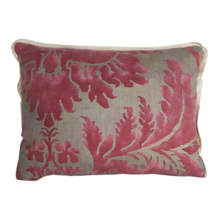 Pink & Silvery Gold Fortuny Pillow For Sale