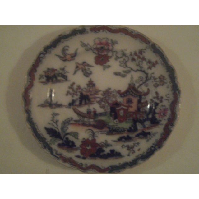 Antique Polychrome Decorated Plates - A Pair - Image 3 of 7