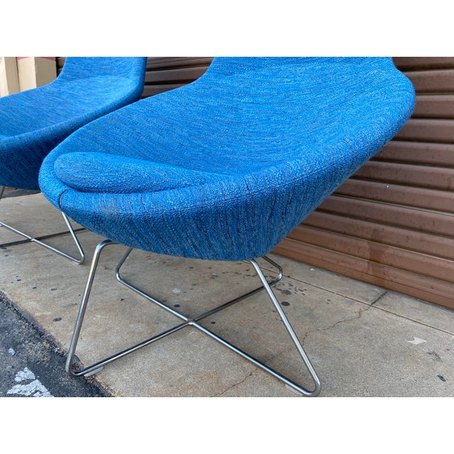 Allermuir Conic Modern Lounge Chairs - a Pair For Sale - Image 4 of 7