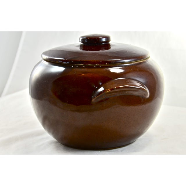 Cottage Rustic Farmhouse Stoneware Lidded Bowl For Sale - Image 3 of 4