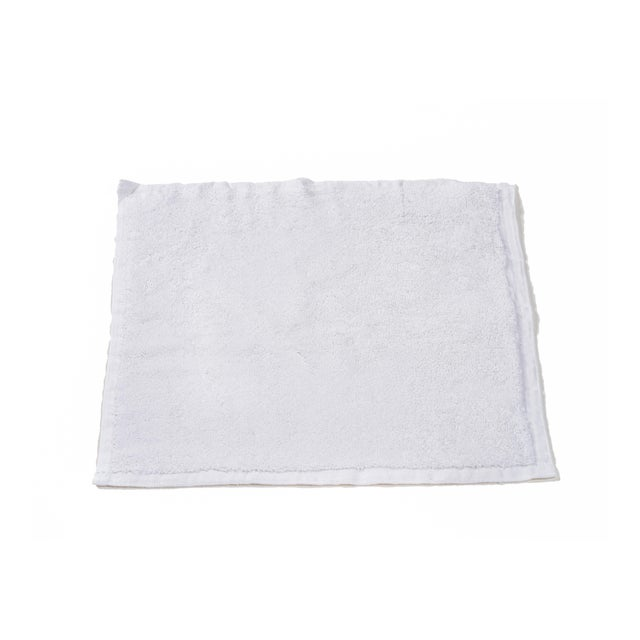 Modern Plush & Bare Handmade Organic Cotton Face Cloth in White For Sale - Image 3 of 3