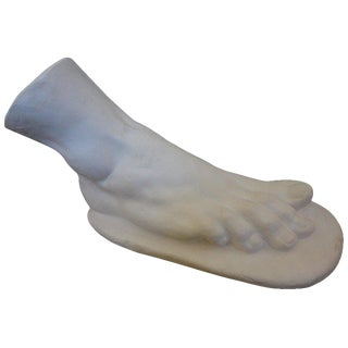 Large Italian Neoclassical Plaster Foot of Hercules From Rome For Sale
