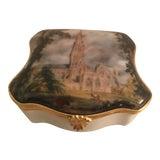 Image of Vintage Limoges Hinged Trinket Box For Sale