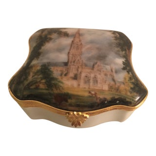 Vintage Limoges Hinged Trinket Box For Sale