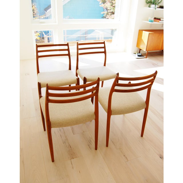 J L Moller Danish Modern Model 78 Teak Dining Chair - Set of 4 For Sale - Image 11 of 13